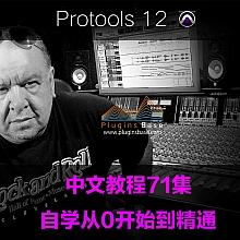 Avid Pro Tools 11+12 HD 中文教程 自学从零开始到精通 普通话 超清教学视频 71集